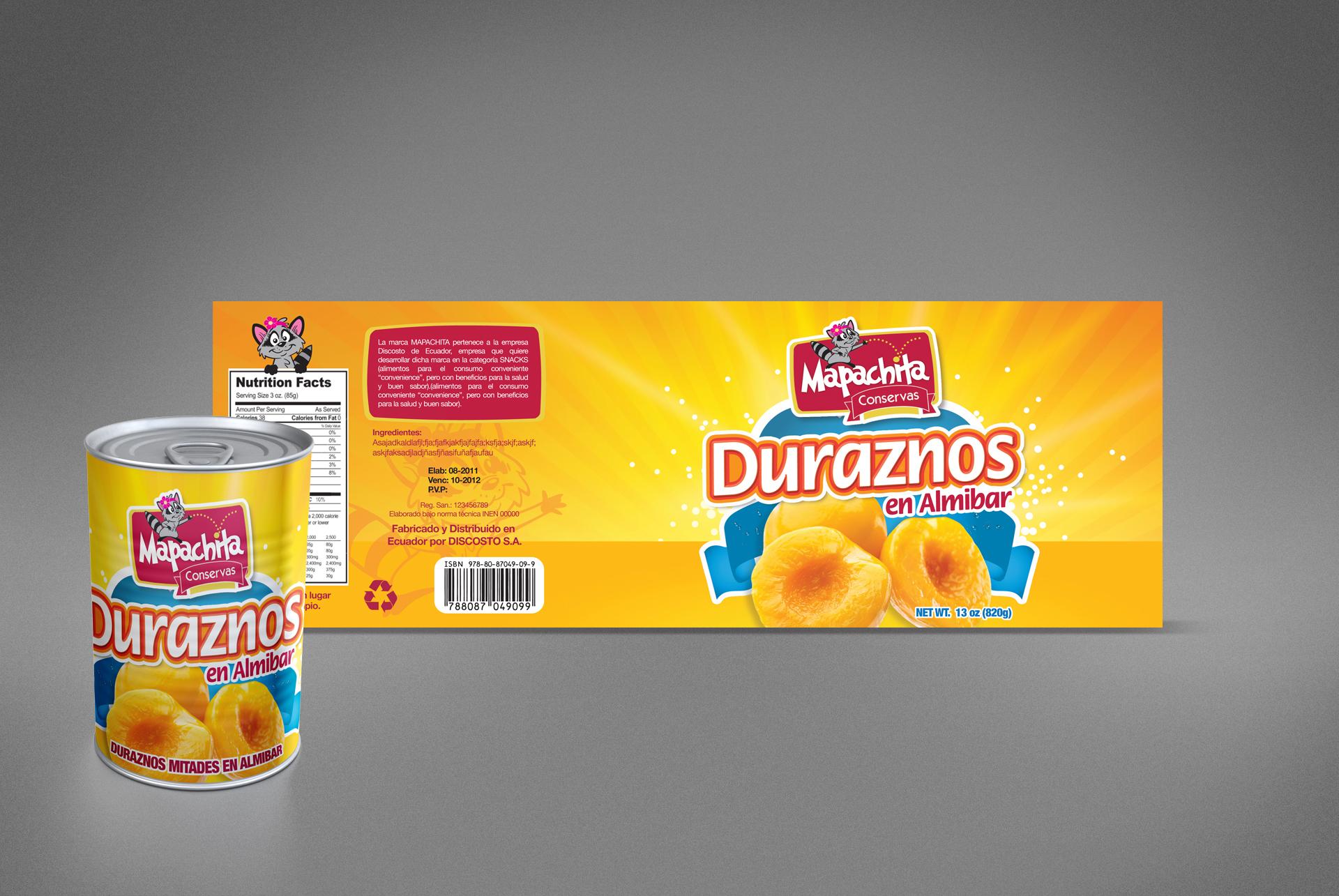 Mapachita Peachs Packaging